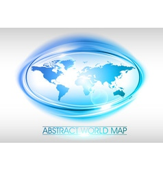 world abstract circle on white blue vector image