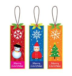 xmas bookmarks vector image
