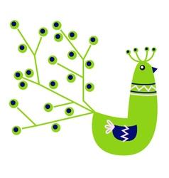 Beautiful green Peacock character vector image vector image