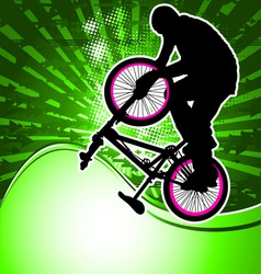 bmx template 2 vector image vector image