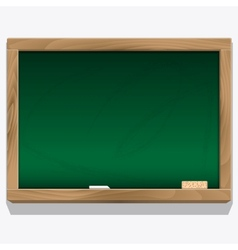 Class board with chalk vector image