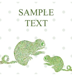 Abstract chameleon vector image