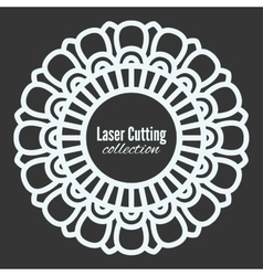 laser cut the template frame Floral vector image