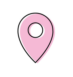 location symbol to destination geography map vector image