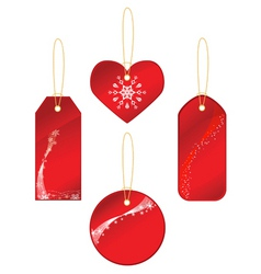 red labels with winter theme vector image vector image