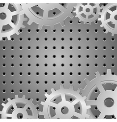 silver background with metallic wheels vector image