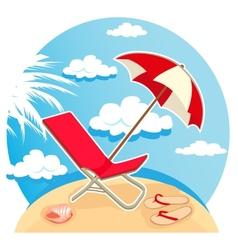 summer tropical beach vector image vector image