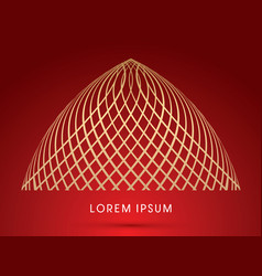 abstract dome vector image vector image