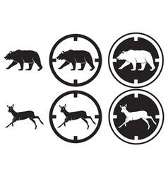 bear and deer vector image