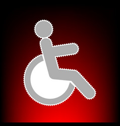disabled vector image vector image