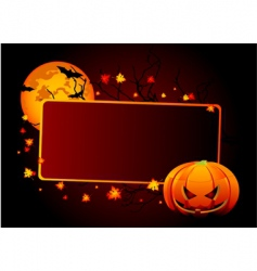 halloween place card vector image vector image