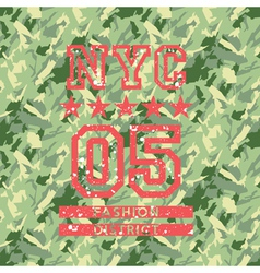 Nyc fashion army style vector