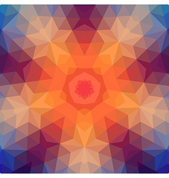 Retro star backdrop of geometric shapes colorful vector