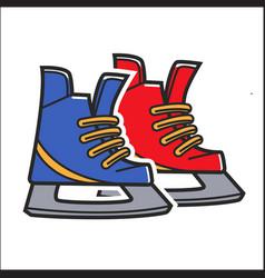 canadian traditional hockey skates isolated vector image
