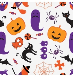 Colorful Halloween pattern vector image