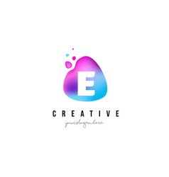e letter dots logo design with oval shape vector image vector image