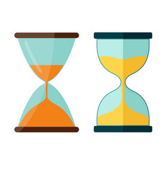 hourglass icon transparent sandglass vector image vector image
