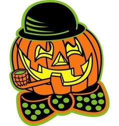 Pumpkin top hat vector image