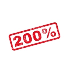 200 Percent Text Rubber Stamp vector image