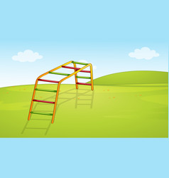 A playground equipment background vector