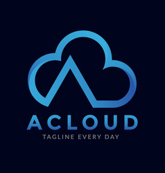 Abstract cloud letter a logo design vector