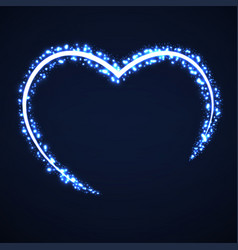abstract heart of glowing particles vector image