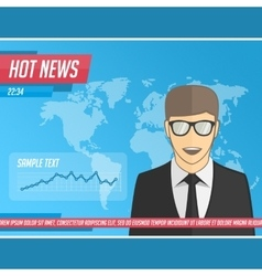 Anchorman hot news vector image vector image