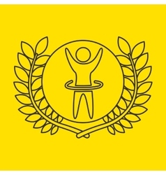 Artistic gymnastic sportsman flag background vector