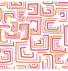 aztec style abstract geometric seamless repeat vector image