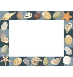 Baby marine photo frame or card vector
