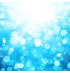 Blurred Background With Sun Rays And Bokeh vector image
