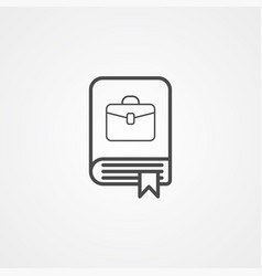 book icon sign symbol vector image