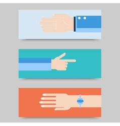 Business hands gestures design elements isolated vector image