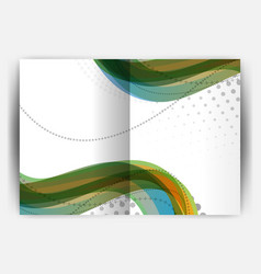 business report cover template wave vector image