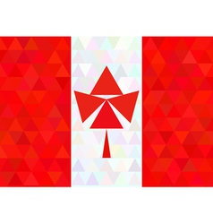Canada flag on a triangle style vector