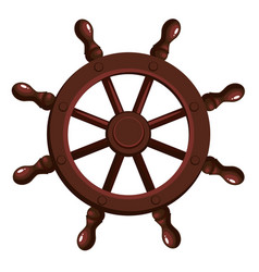 Cartoon ship s wheel vector