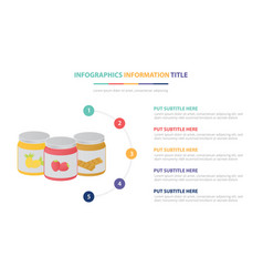 Chocolate strawberry jam infographic template vector
