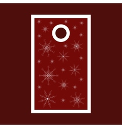 Christmas sale tag with snowflakes Merry Christmas vector image