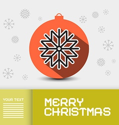 Christmas - Xmas Card Template vector image vector image