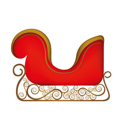 colorful silhouette of sleigh of santa claus vector image