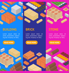 construction material banner vecrtical set vector image