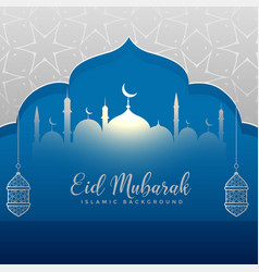 Creative eid festival greeting card design vector