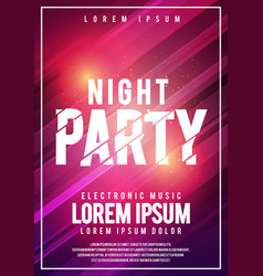 dance club night summer party flyer layout design vector image