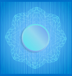 Decorative mandala on blue striped texture vector