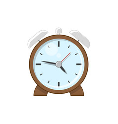 desktop retro alarm clock vector image