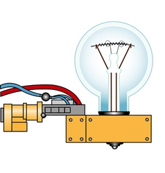 Electric lamp on a support vector