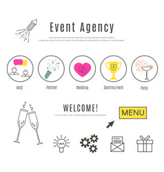 Event agency web design template vector