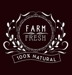 Farm fresh Vintage frames and Floral Ornaments vector
