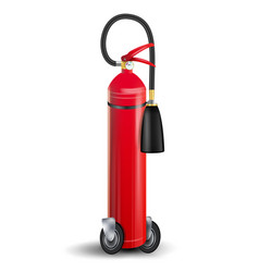 Fire extinguisher sign 3d realistic red vector