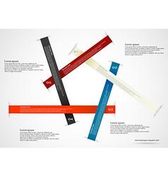 Five long ribbons vector